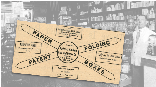 National Folding Box and Paper Co. Vintage Ad