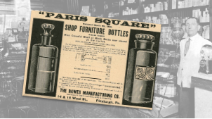 Paris Square Shop Furniture Bottles Ad