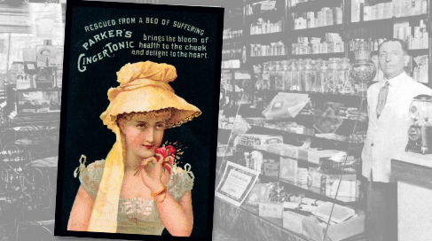 Parker's Ginger Tonic Vintage Pharmacy Ad