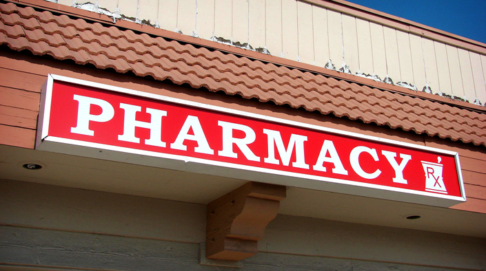 Pharmacy Storefront Sign