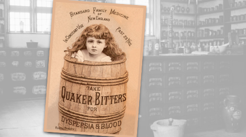 Quaker Bitters Vintage Pharmacy Ad