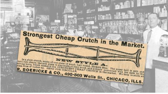 R. Boericke & Co., Crutch Vintage Ad
