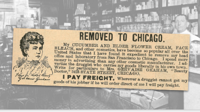 Removed to Chicago Vintage Ad