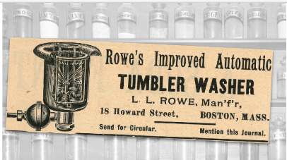 Rowe's Tumbler Washer Vintage Ad
