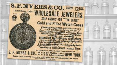 S.F. Myers Wholesale Jewelers Vintage Ad