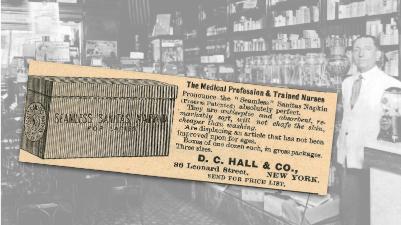 Seamless Sanitas Napkin Vintage Ad