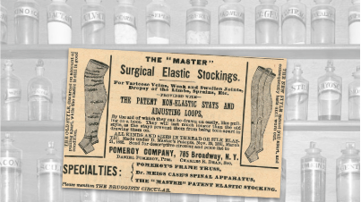 Surgical Elastic Stockings Vintage Ad