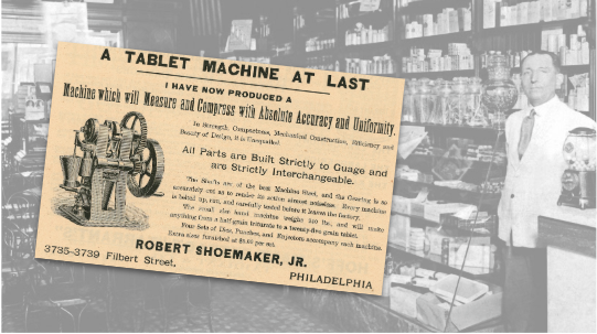 Tablet Machine Vintage Ad