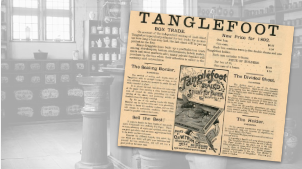 Tanglefoot Vintage Pharmacy Ad