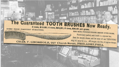 Tooth Brushes Vintage Ad