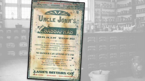 Uncle John's Sassafras Vintage Ad