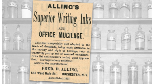 Vintage Alling's Superior Writing Inks Ad