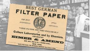 Vintage Eimer & Amend Filter Paper Ad