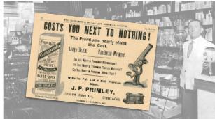 Vintage J. P. Primley Premium Product Ad