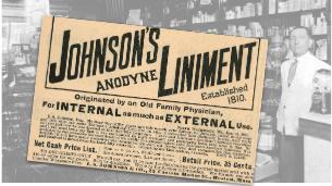 Vintage Johnson's Anodyne Liniment Ad