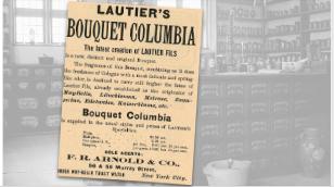 Vintage Lautier's Columbia Bouquet Ad