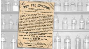 Vintage White Pine Expectorant Ad