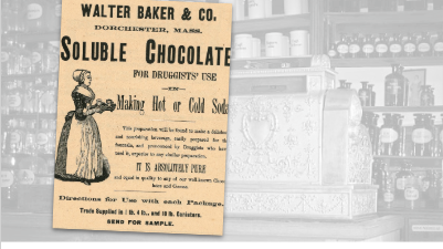 Walter Baker Co. Soluble Chocolate Vintage Ad