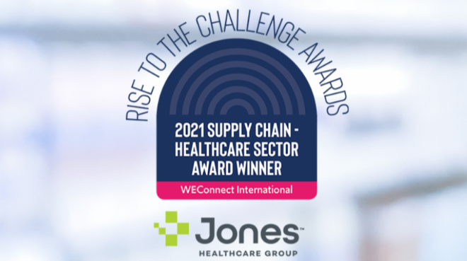 jones healthcare weconnect award