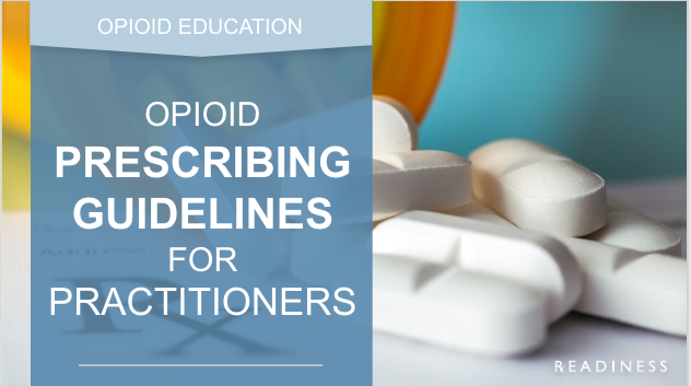 opioid prescribing guidelines readiness